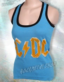 bokserka damska AC/DC - LOGO jasnoniebieska