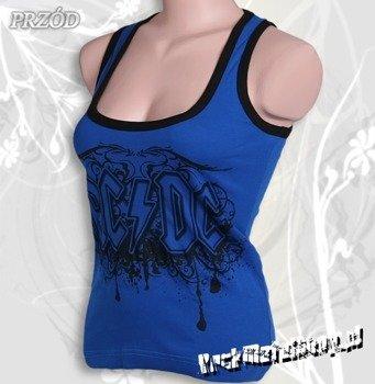bokserka damska AC/DC - LOGO niebieska