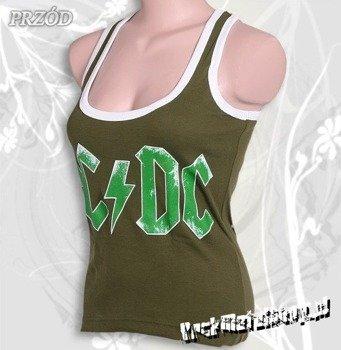 bokserka damska AC/DC - LOGO oliwkowa