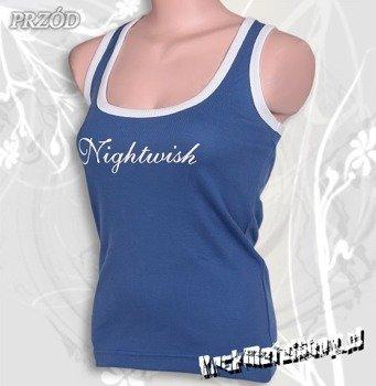 bokserka damska NIGHTWISH - LOGO niebieska