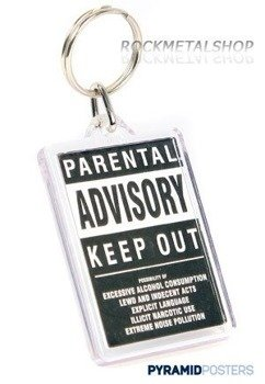 brelok PARENTAL ADVISORY KEEP OUT PK0244