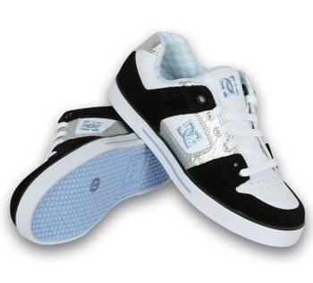 buty damskie DC-  PURE (WHITE/BLUE/SILVER)