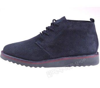 buty zamszowe NEW AGE - CIEMNY GRANAT / NAVY (WS1272)