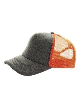 czapka MASTERDIS - BASEBALL CAP JERSEY TRUCKER, ht. charcoal/neonorange