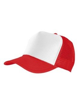 czapka MASTERDIS - BASEBALL CAP TRUCKER, red/white