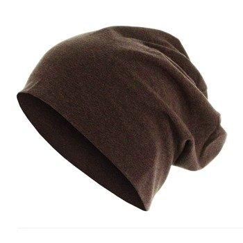 czapka MASTERDIS - HEATHER JERSEY BEANIE chocolate