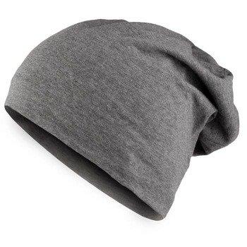 czapka MASTERDIS - JERSEY BEANIE heather charcoal