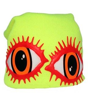 czapka zimowa COUCH - LOVE EYE LASHESL (YELLOW)
