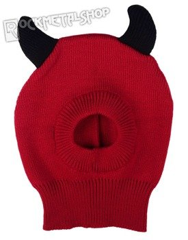 czapka zimowa FREAKS AND FRIENDS - RED DEVIL OPEN FACE MASK