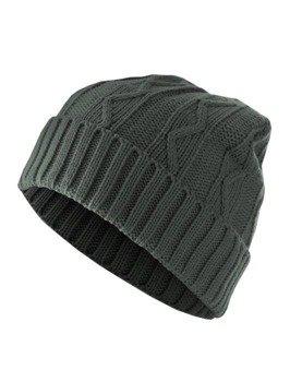 czapka zimowa MASTERDIS - CABLE FLAP charcoal