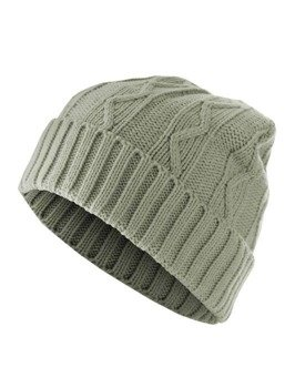 czapka zimowa MASTERDIS - CABLE FLAP grey