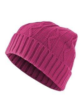 czapka zimowa MASTERDIS - CABLE FLAP magneta