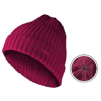 czapka zimowa MASTERDIS - KMA BEANIE BASIC FLIP magenta