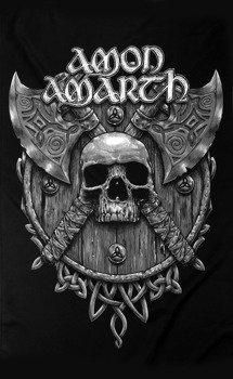flaga AMON AMARTH - SKULL & AXES