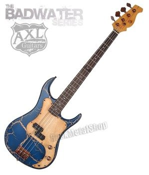 gitara basowa AXL SRO BADWATER / BLUE CRACKLE