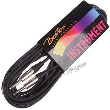 kabel gitarowy BOSTON GC-105-9BK BLACK 9m jack prosty/prosty
