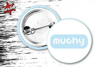 kapsel MUCHY - LOGO biało-niebieski