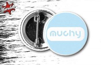 kapsel MUCHY - LOGO niebiesko-biały