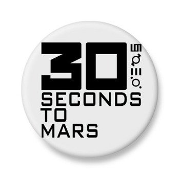 kapsel biały 30 SECONDS TO MARS - LOGO