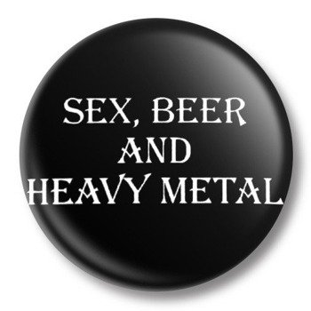 kapsel średni SEX, BEER AND HEAVY METAL Ø38mm
