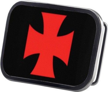 klamra do pasa IRON CROSS BLACK/RED