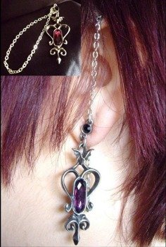 kolczyk MIDNIGHT EAR CHAIN [E232] Alchemy Gothic