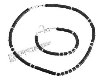 komplet koralików BLACK SILVER 1