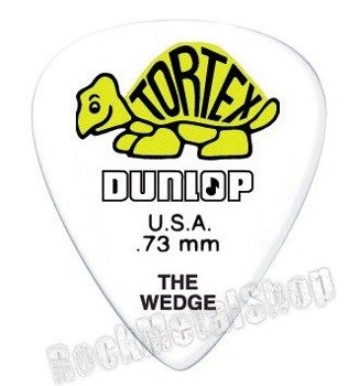 kostka gitarowa DUNLOP - TORTEX THE WEDGE YELLOW 0.73 mm (424R0.73)