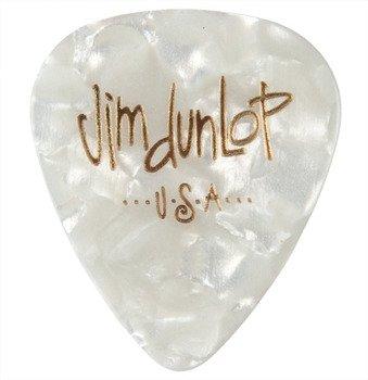 kostka gitarowa JIM DUNLOP - CELLULOID CLASSIC WHITE PEARL (483R04)