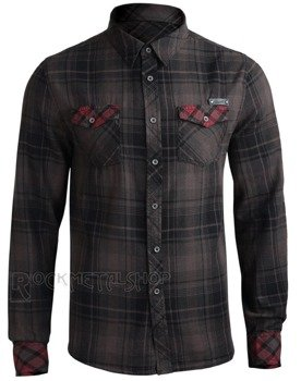 koszula CHECKSHIRT DUNCAN - BROWN BLACK