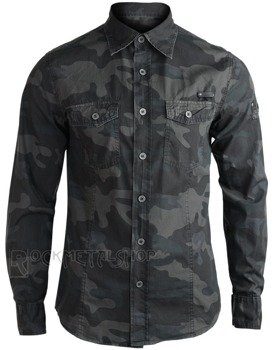 koszula MEN SHIRT SLIM - DARKCAMO