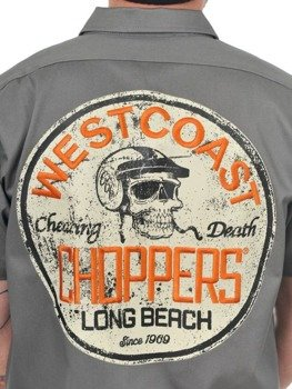 koszula WEST COAST CHOPPERS - CHEATING DEATH GREY