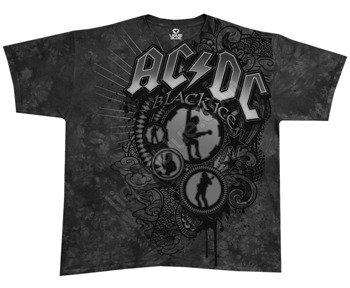 koszulka AC/DC - BLACK SHADOW barwiona