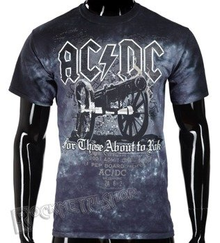 koszulka AC/DC - CANNON, barwiona