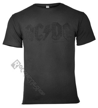 koszulka AC/DC - CLASSIC LOGO CHARCOAL BLACK, cyrkonie