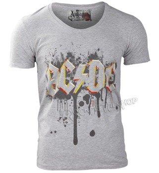 koszulka AC/DC - GRAFFITI LOGO szary melanż