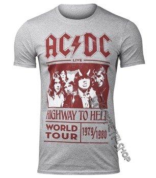 koszulka AC/DC - HIGHWAY TO HELL WORLD TOUR 1979/1980, szara