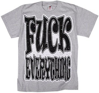 koszulka BLACK ICON - FUCK EVERYTHING (MICON115 HEATHER GREY)