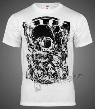 koszulka BLACK ICON - SKATE SKULL (MICON035 WHITE)