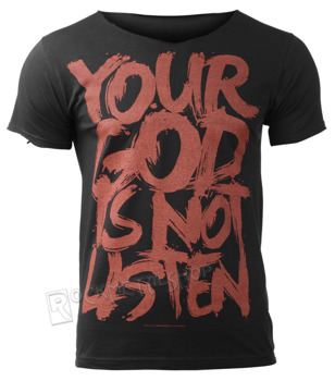 koszulka BLACK ICON - YOUR GOD IS NOT LISTEN (MICON108 V-NECK BLACK)