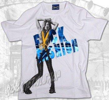 koszulka F**K FASHION KATE biała