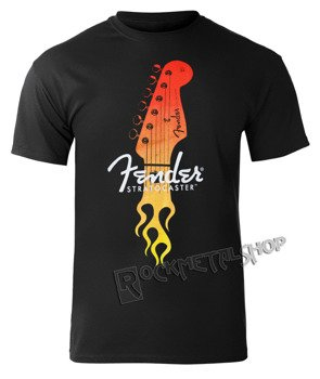 koszulka FENDER - STRAT FLAMING HEAD