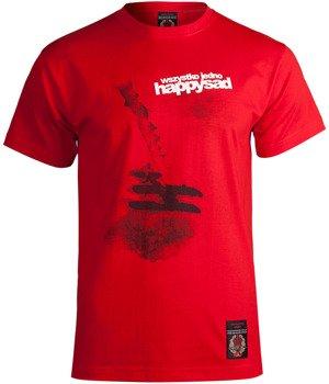 koszulka HAPPYSAD - WSZYSTKO JEDNO czerwona
