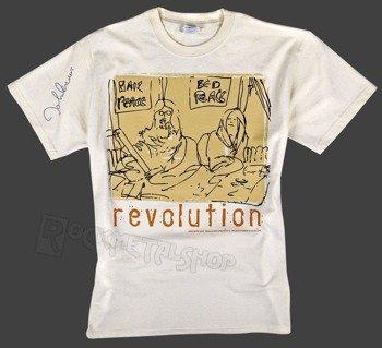 koszulka JOHN LENNON - REVOLUTION kremowa