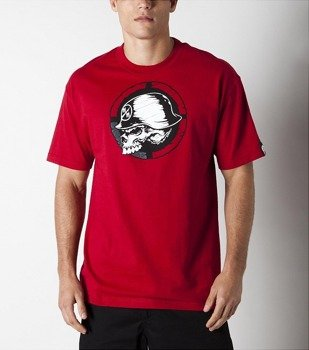 koszulka METAL MULISHA - QUARTERED czerwona
