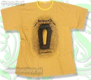 koszulka METALLICA - DEATH MAGNETIC żółta