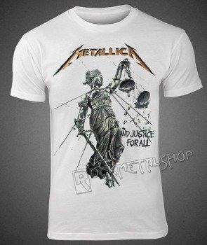 koszulka METALLICA - JUSTICE WHITE