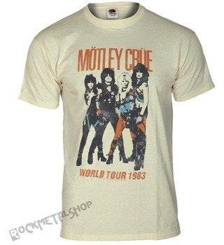 koszulka MOTLEY CRUE - VINTAGE WORLD TOUR beżowa