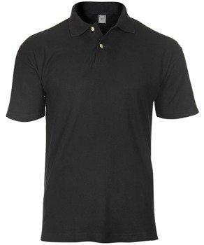 koszulka POLO czarna, bez nadruków