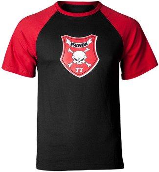 koszulka PRAWDA - 77 czarno-czerwona